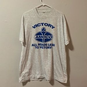Vintage 80s Victory amoco t shirt